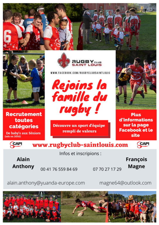 LE RC SAINT LOUIS RECRUTE...