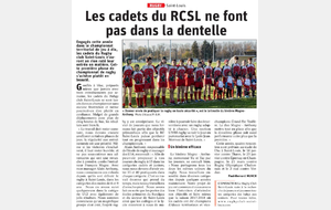 LES CADETS DU RC SAINT LOUIS (article de Presse)